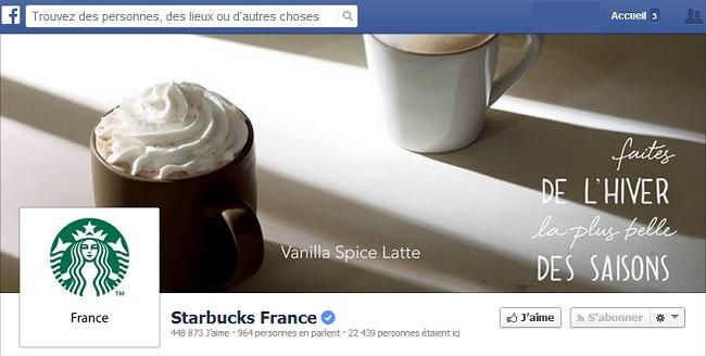 Couverture Facebook de Starbucks France