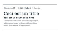 associations de typographies