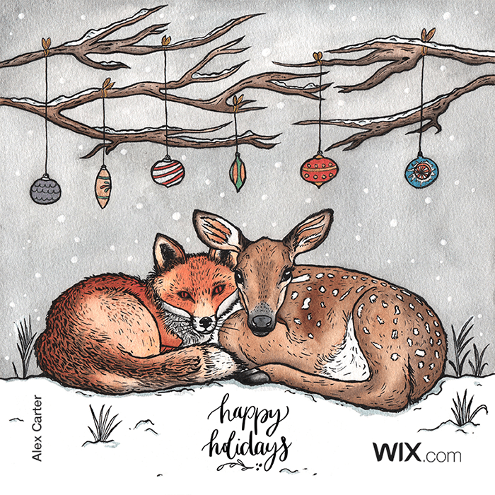 free online holiday greeting card from Alex Carter