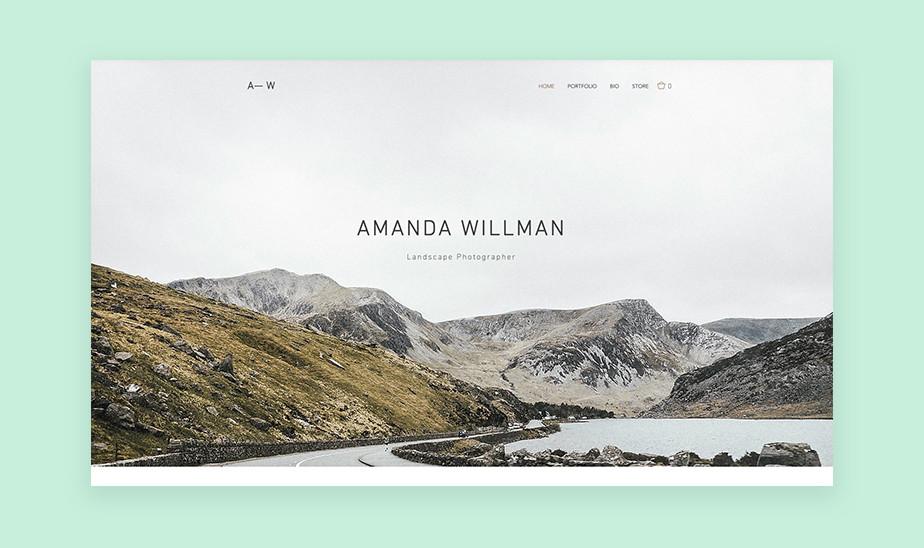 Шаблоны сайта портфолио для творческих профессий: сайт портфолио для ландшафтного фотографа