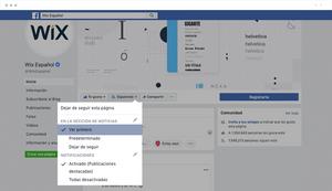Instrucciones para seguir una página en Facebook
