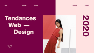 Les tendances web design 2020