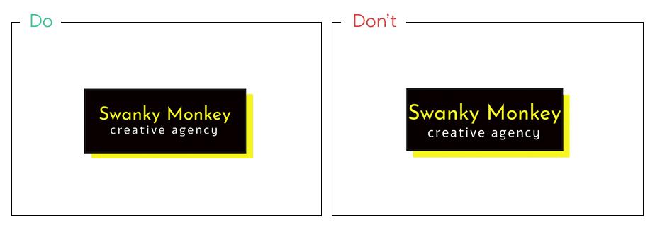 Logo von Swanky Monkey als Beispiel für ein Logos mit genug Platz
