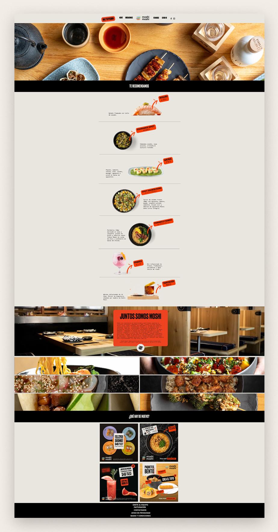 Ejemplo de web de restaurante de sushi