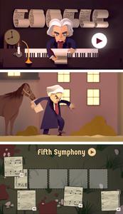 Beethoven Google Anniversaire Doodle Jeu