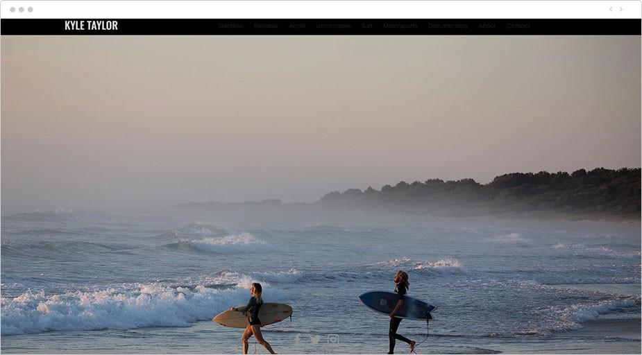 Foto de surfistas de la web de Kyler Taylor