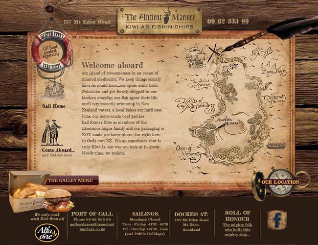 Сайт ресторана The Ancient Mariner