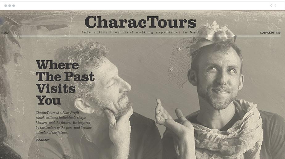 CharacTours nonprofit website