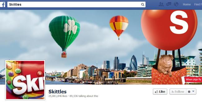 Couverture Facebook de Skittles