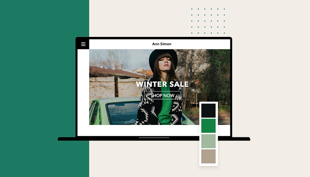 Screenshot einer Website mit gutem Webdesign