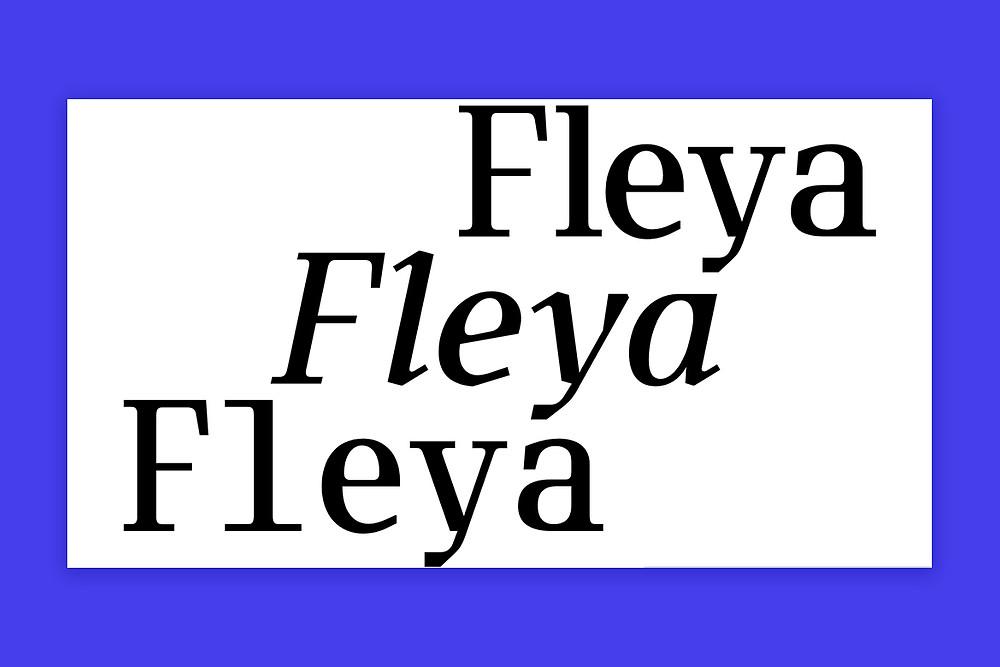 Fleya typeface by Tightype