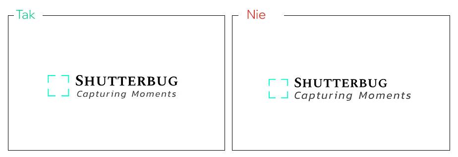 Dopasuj rozmiar czcionki i elementów, aby zachować równowagę i stworzyć dobry projekt logo