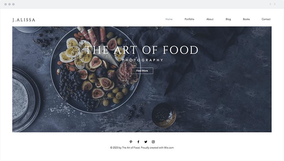 Template photographe culinaire