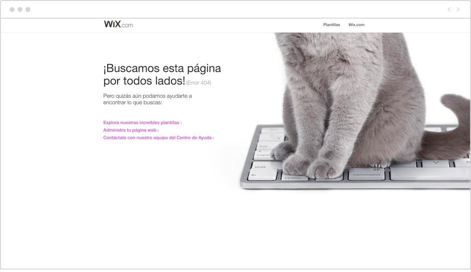 Página 404 de Wix