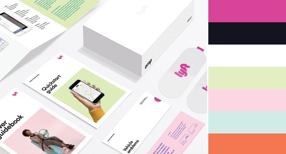 Lyft brand colors
