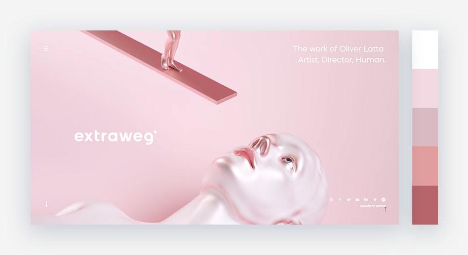 50 paletas de cores para o seu site: surreal e metálico