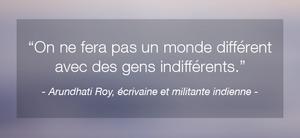 Citation inspirante de femme célèbre Arundhati Roy