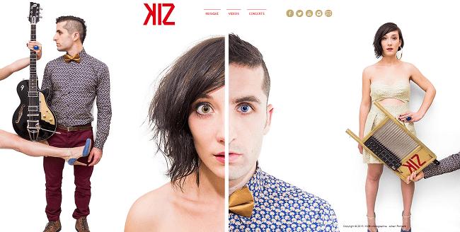Page d'accueil du site Kiz Musique