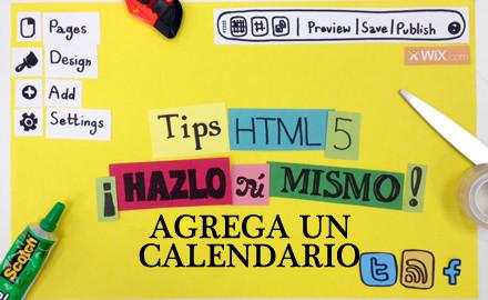 Agrega un calendario a tu sitio Wix