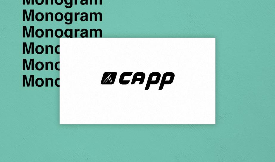 Lettermark/monogram logo example