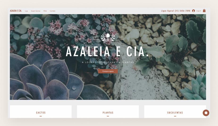 Template para loja virtual de plantas e paisagismo