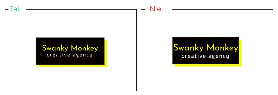 Pozostaw przestrzeń pomiędzy logo a ramką