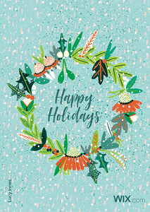 Free online holiday greeting card from Lucy Innes