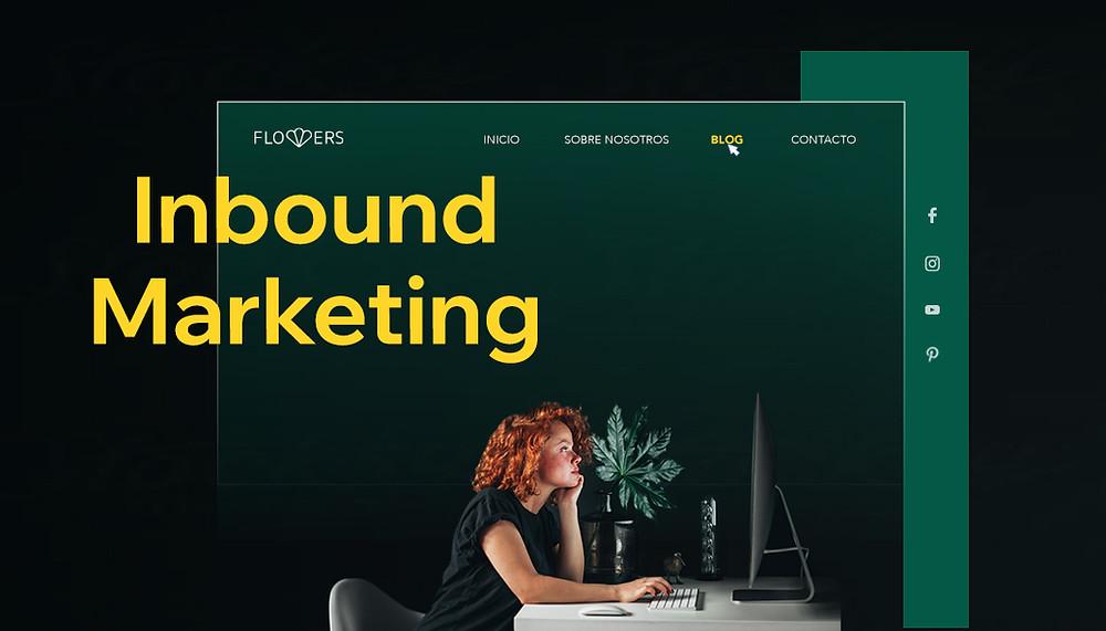 Mujer frente a computador desarrollando estrategia de inbound marketing