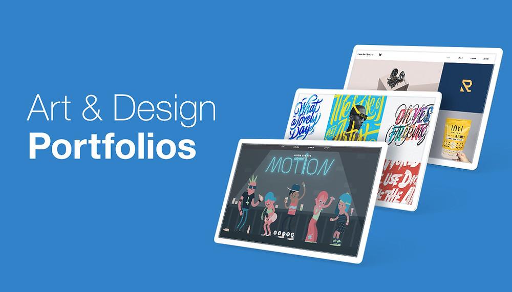 art and design portfolio website examples