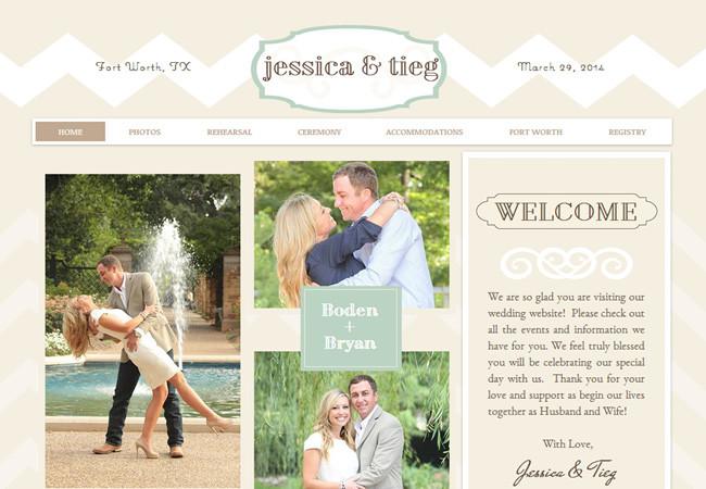 Свадебный сайт Джессики и Тига