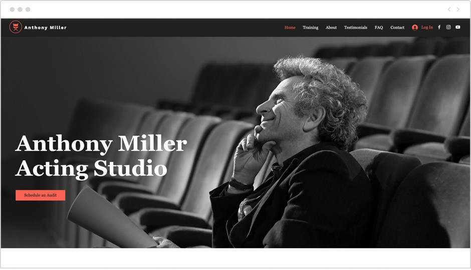 Sito web dedicato al teatro