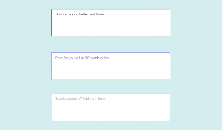 Bild einer Textbox in einem Online-Formular