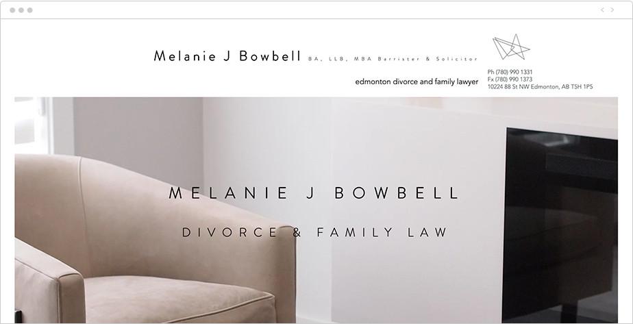 Best law firm websites Melanie J Bowbell