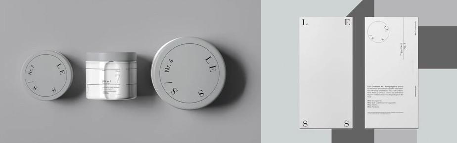 Стильный монохромный дизайн упаковки