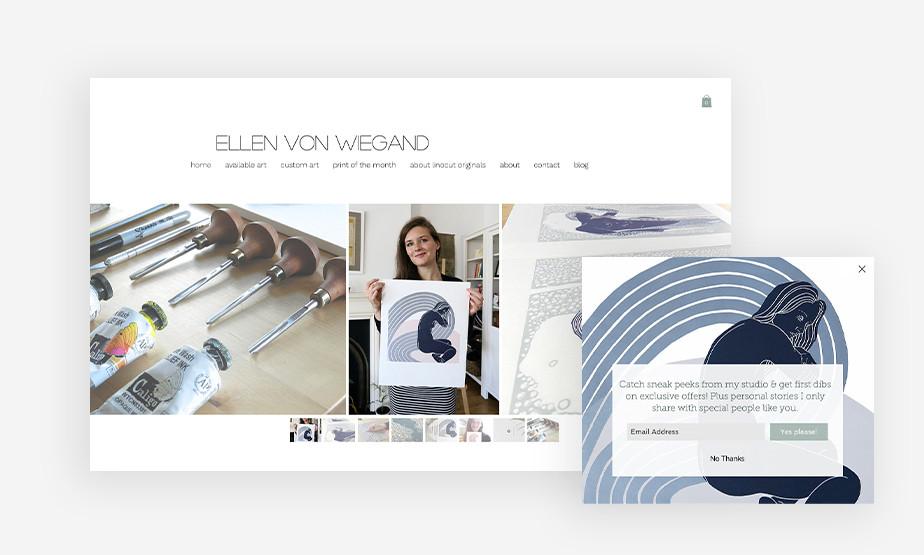 Het beste website voorbeeld van Ellen Von Wiegand
