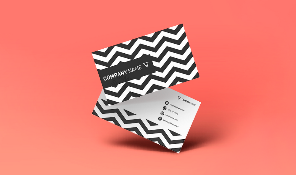 Ejemplo de una tarjeta de presentación por los dos lados