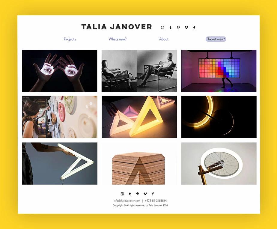 Portfolio artistico di Talia Janover