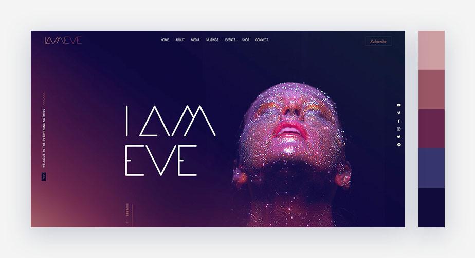 50 paletas de cores para o seu site: profunda e mística