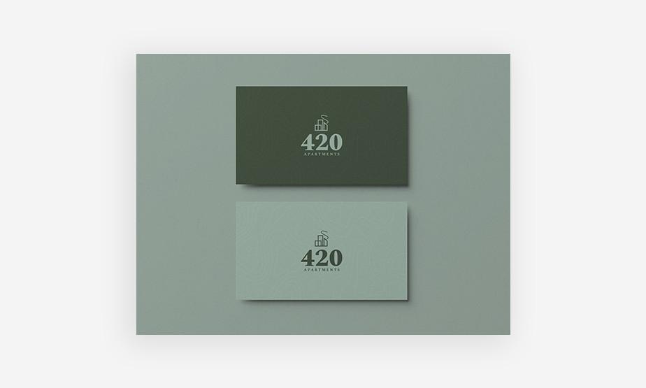 wzory wizytówek – projekt wizytówki w zieleni