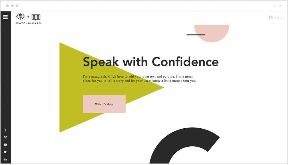 Vorlage einer eLearning-Website als Beispiel für Website-Ideen