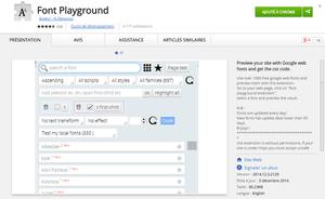 Font Playground ChromeWebStore