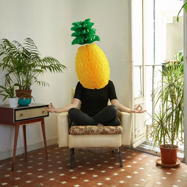 homme tête ananas