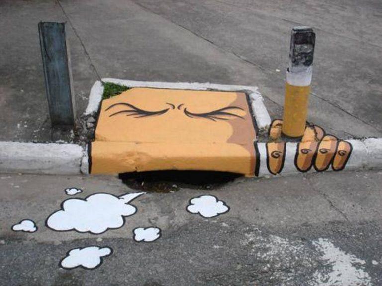 タバコのストリートアート