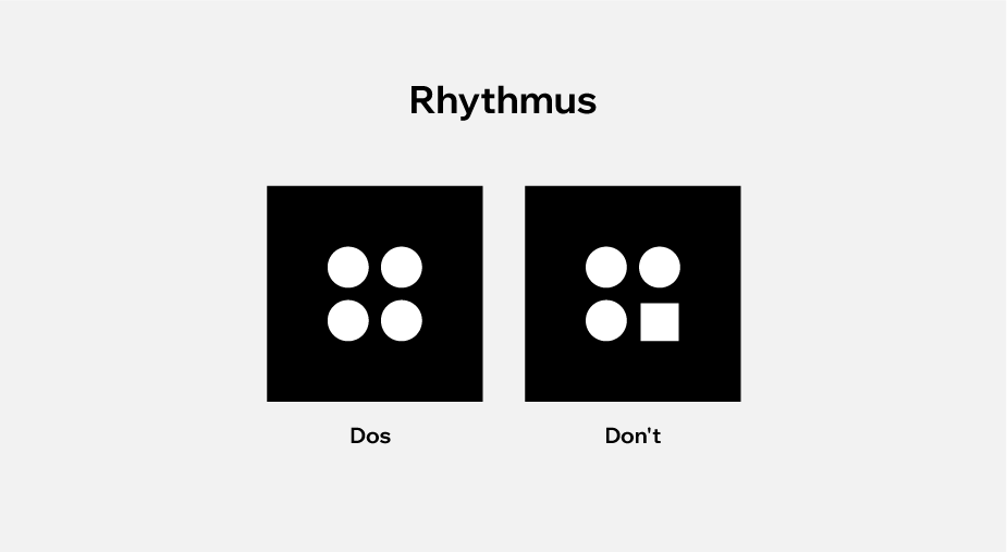 Visuelle Darstellung von Rhythmus im Webdesign mit Dos und Dont's