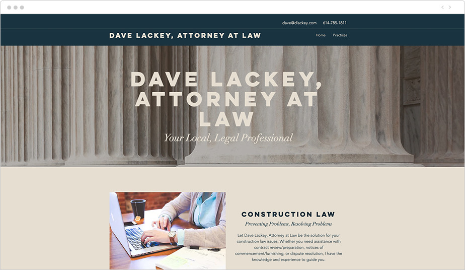 Best law firm websites Dave Lackey