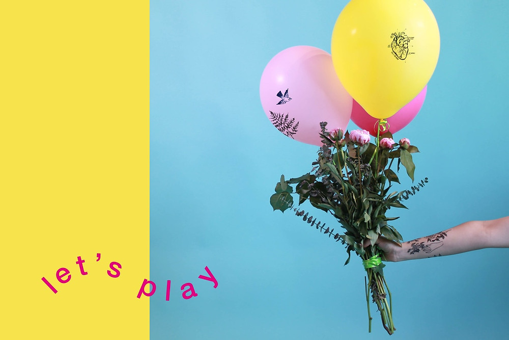 Wix Design Playground balloons and flowers