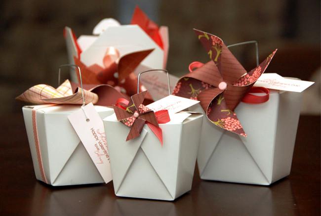 Boîte de restaurant chinois - papier cadeau