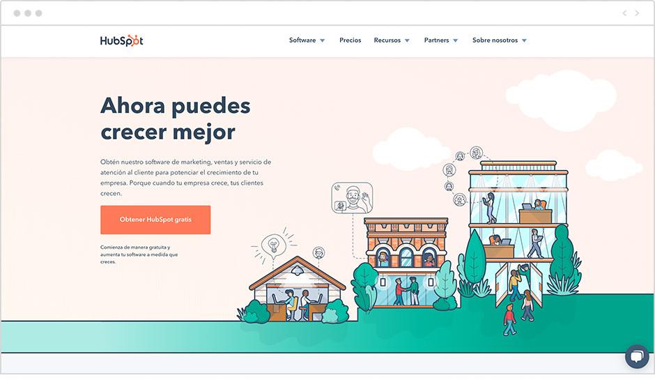 Web de Hubspot