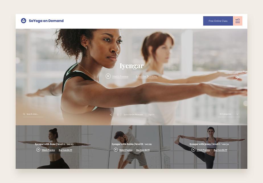 Página web wix que ofrece cursos online