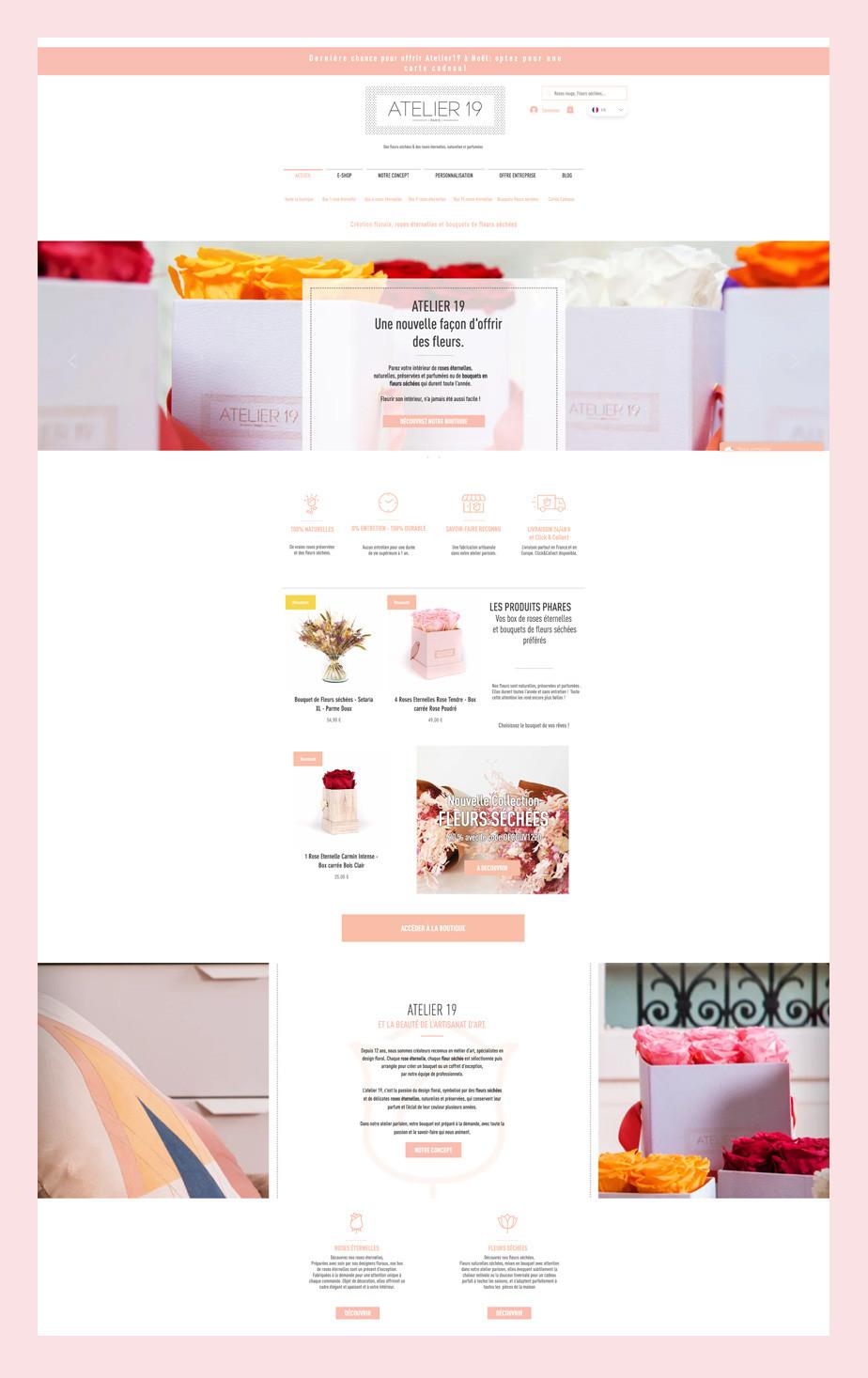 Site internet d'Atelier 19